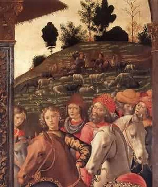 Adoration of the magi detail 5 1488 florence